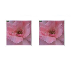 Pink Rose Cufflinks (Square)