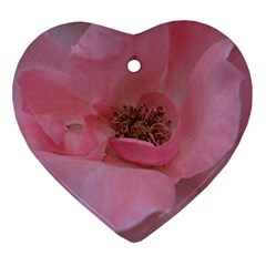 Pink Rose Heart Ornament (2 Sides)
