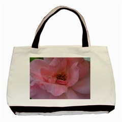 Pink Rose Basic Tote Bag (two Sides)  by timelessartoncanvas