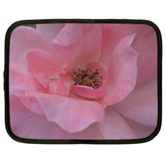 Pink Rose Netbook Case (Large)