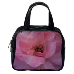 Pink Rose Classic Handbags (One Side)