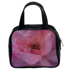 Pink Rose Classic Handbags (2 Sides)