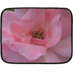 Pink Rose Fleece Blanket (Mini)