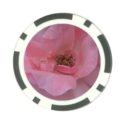 Pink Rose Poker Chip Card Guards (10 pack)