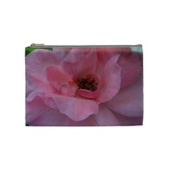 Pink Rose Cosmetic Bag (Medium)