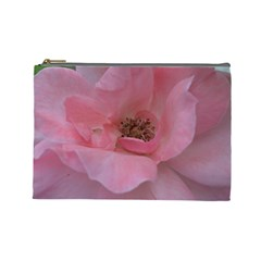 Pink Rose Cosmetic Bag (Large)
