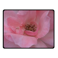 Pink Rose Fleece Blanket (Small)