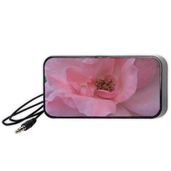 Pink Rose Portable Speaker (Black)