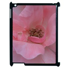 Pink Rose Apple iPad 2 Case (Black)