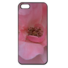 Pink Rose Apple iPhone 5 Seamless Case (Black)