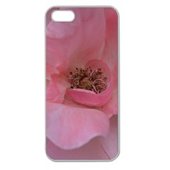 Pink Rose Apple Seamless iPhone 5 Case (Clear)