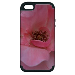 Pink Rose Apple iPhone 5 Hardshell Case (PC+Silicone)
