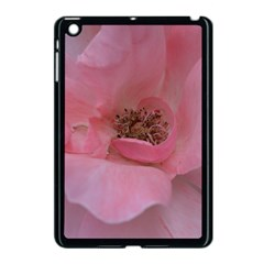 Pink Rose Apple iPad Mini Case (Black)