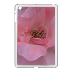 Pink Rose Apple iPad Mini Case (White)