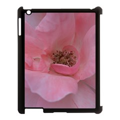 Pink Rose Apple iPad 3/4 Case (Black)