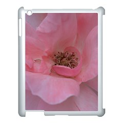Pink Rose Apple iPad 3/4 Case (White)