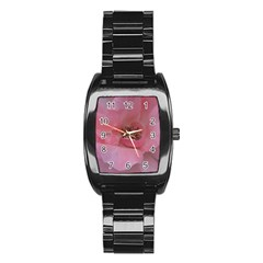 Pink Rose Stainless Steel Barrel Watch