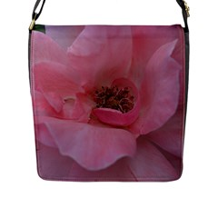 Pink Rose Flap Messenger Bag (L)