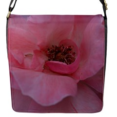 Pink Rose Flap Messenger Bag (S)