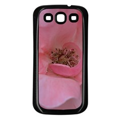 Pink Rose Samsung Galaxy S3 Back Case (Black)