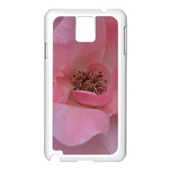 Pink Rose Samsung Galaxy Note 3 N9005 Case (White)