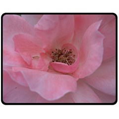Pink Rose Double Sided Fleece Blanket (Medium)