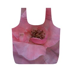 Pink Rose Full Print Recycle Bags (M)