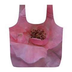 Pink Rose Full Print Recycle Bags (L)