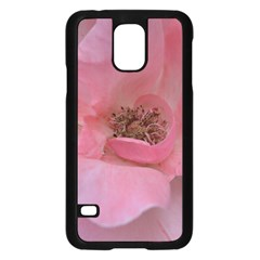Pink Rose Samsung Galaxy S5 Case (Black)