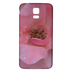 Pink Rose Samsung Galaxy S5 Back Case (White)