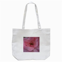 Pink Rose Tote Bag (White)