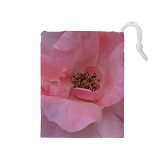 Pink Rose Drawstring Pouches (Medium)