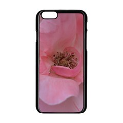 Pink Rose Apple iPhone 6 Black Enamel Case