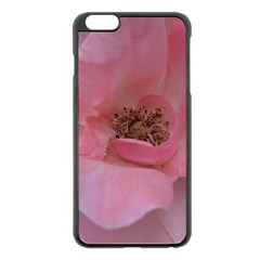 Pink Rose Apple iPhone 6 Plus Black Enamel Case