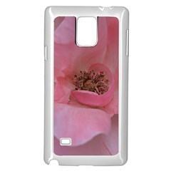 Pink Rose Samsung Galaxy Note 4 Case (White)
