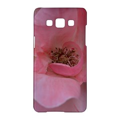 Pink Rose Samsung Galaxy A5 Hardshell Case  by timelessartoncanvas