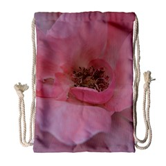 Pink Rose Drawstring Bag (Large)