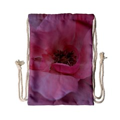 Pink Rose Drawstring Bag (Small)