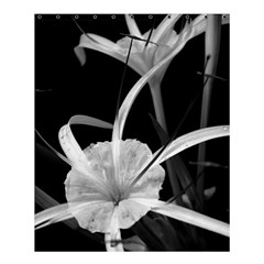 Exotic Black And White Flowers Shower Curtain 60  X 72  (medium)  by timelessartoncanvas
