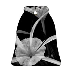 Exotic Black And White Flowers Bell Ornament (2 Sides) by timelessartoncanvas
