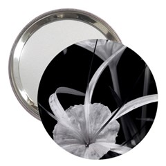 Exotic Black And White Flowers 3  Handbag Mirrors by timelessartoncanvas