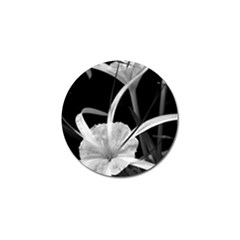 Exotic Black and White Flowers Golf Ball Marker by timelessartoncanvas