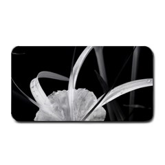Exotic Black And White Flowers Medium Bar Mats by timelessartoncanvas