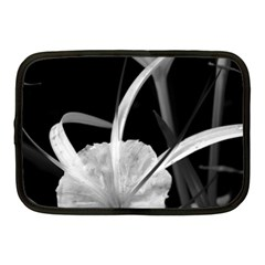Exotic Black And White Flowers Netbook Case (medium)  by timelessartoncanvas