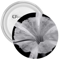 Exotic Black And White Flower 2 3  Buttons by timelessartoncanvas