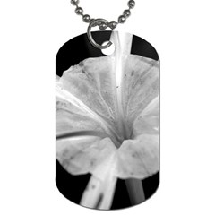 Exotic Black And White Flower 2 Dog Tag (one Side) by timelessartoncanvas