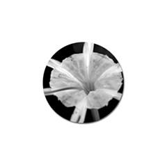 Exotic Black And White Flower 2 Golf Ball Marker by timelessartoncanvas