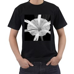 Exotic Black And White Flower 2 Men s T Shirt (black) (two Sided)