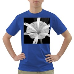 Exotic Black And White Flower 2 Dark T Shirt by timelessartoncanvas