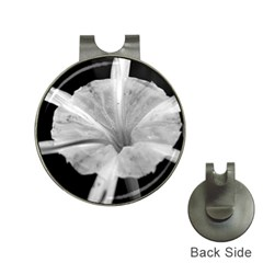 Exotic Black And White Flower 2 Hat Clips With Golf Markers by timelessartoncanvas